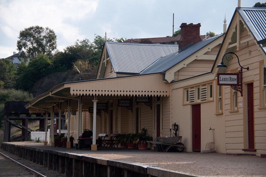 Gundagai Railway Station by John Cowper