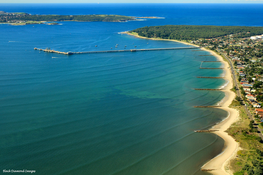 botany bay  silver beach  kurnell pier  kurnell  sydney  n
