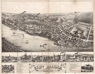 View of East Haddam, Connecticut, and Goodspeeds Landing : 1880. | by uconnlibrarymagic