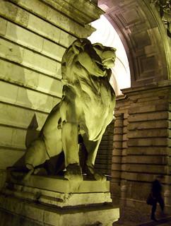 Buda castle lion