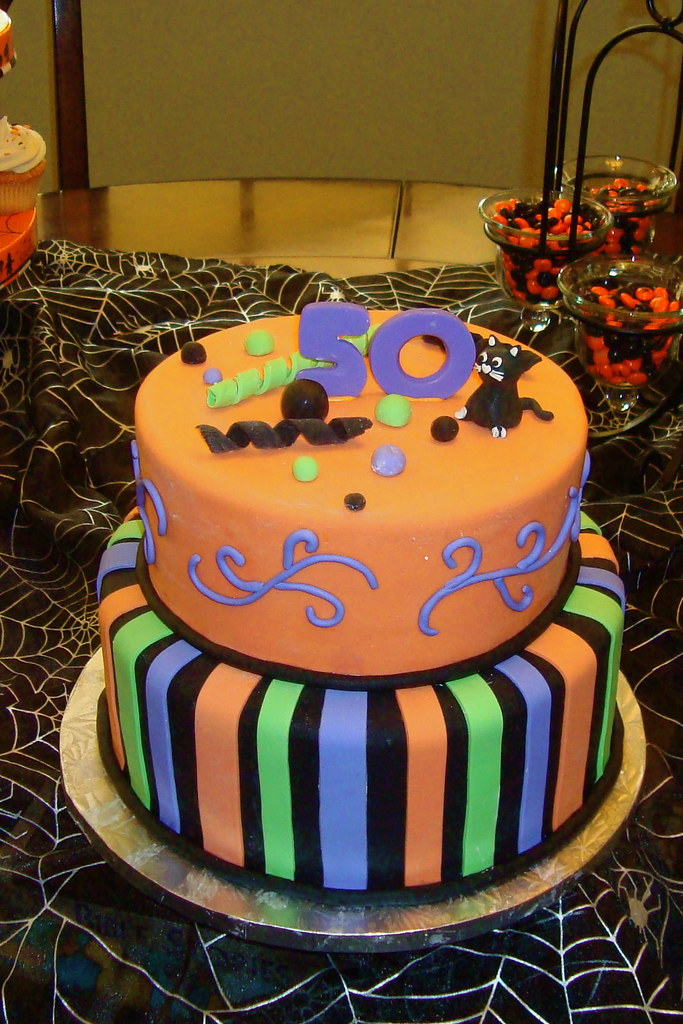 50th Halloween Birthday Cake