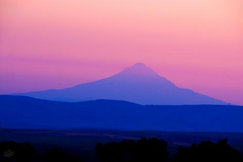 blue goldendale washington pink unitedstates columbiagorgephotosetsy mt hood mthood oregon layered twilight evening bluehour