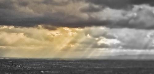 light nature clouds landscape cityscape rays