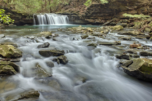 Blue Hole Falls, Fiery Gizzard Trail, Grundy Forest SNA, Grundy County, Tennessee 2 | by Chuck Sutherland