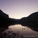 Poia Lake at sunset