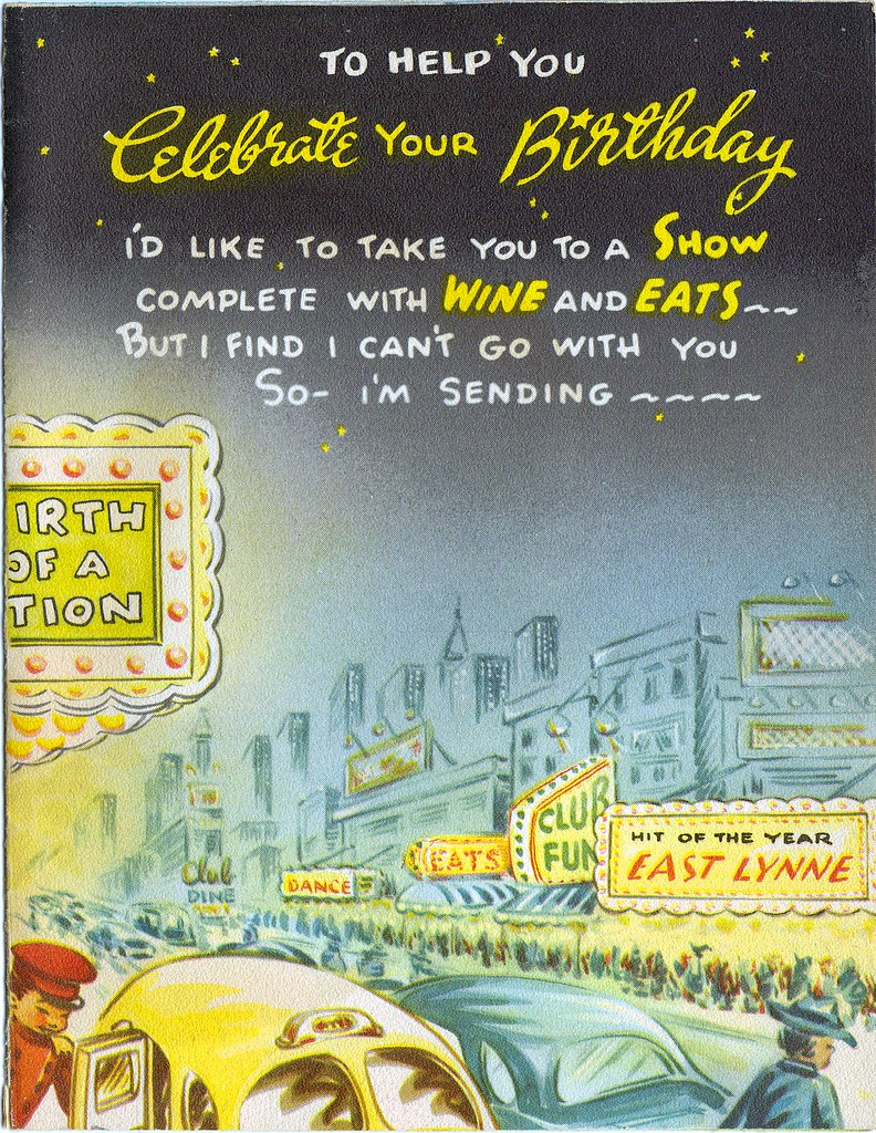 1948 Vintage Birthday Card From My Mom