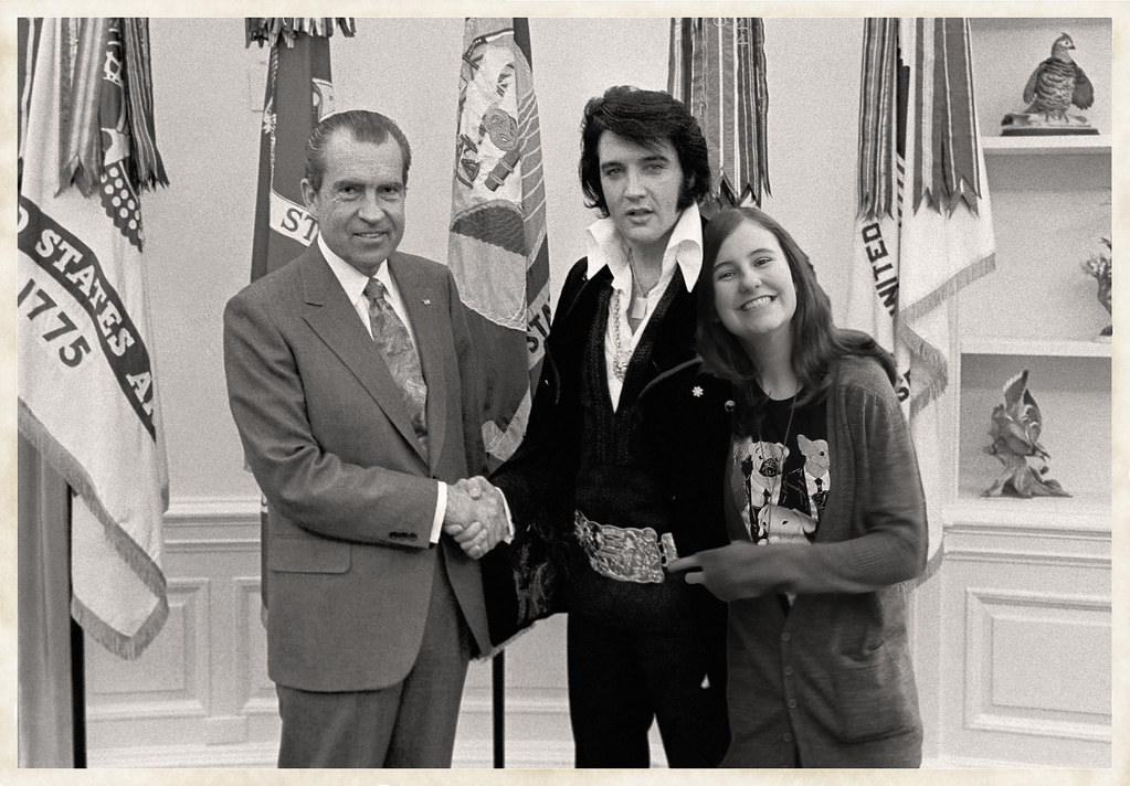 President Nixon, Elvis Presley and Issie | The White House