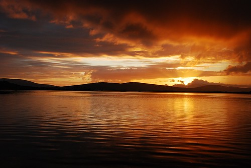 sunset seaside camus camusbay cuanchamuis