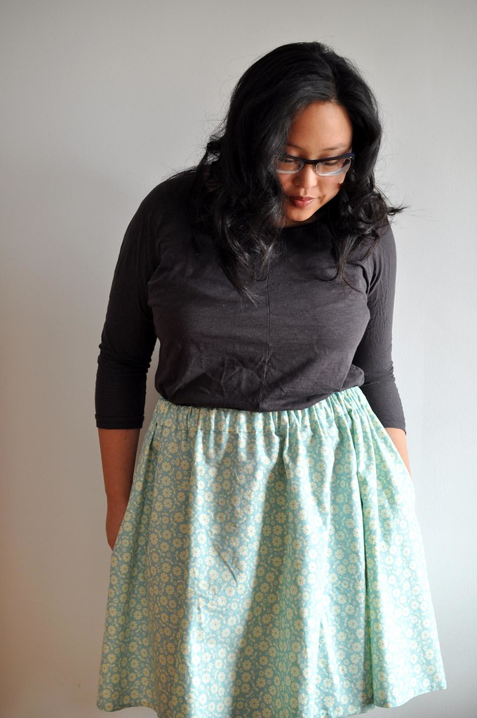 Finished Gathered Skirt Quilting Cotton Side Seams Sewn W