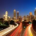 Downtown Atlanta skyline at the blue hour.