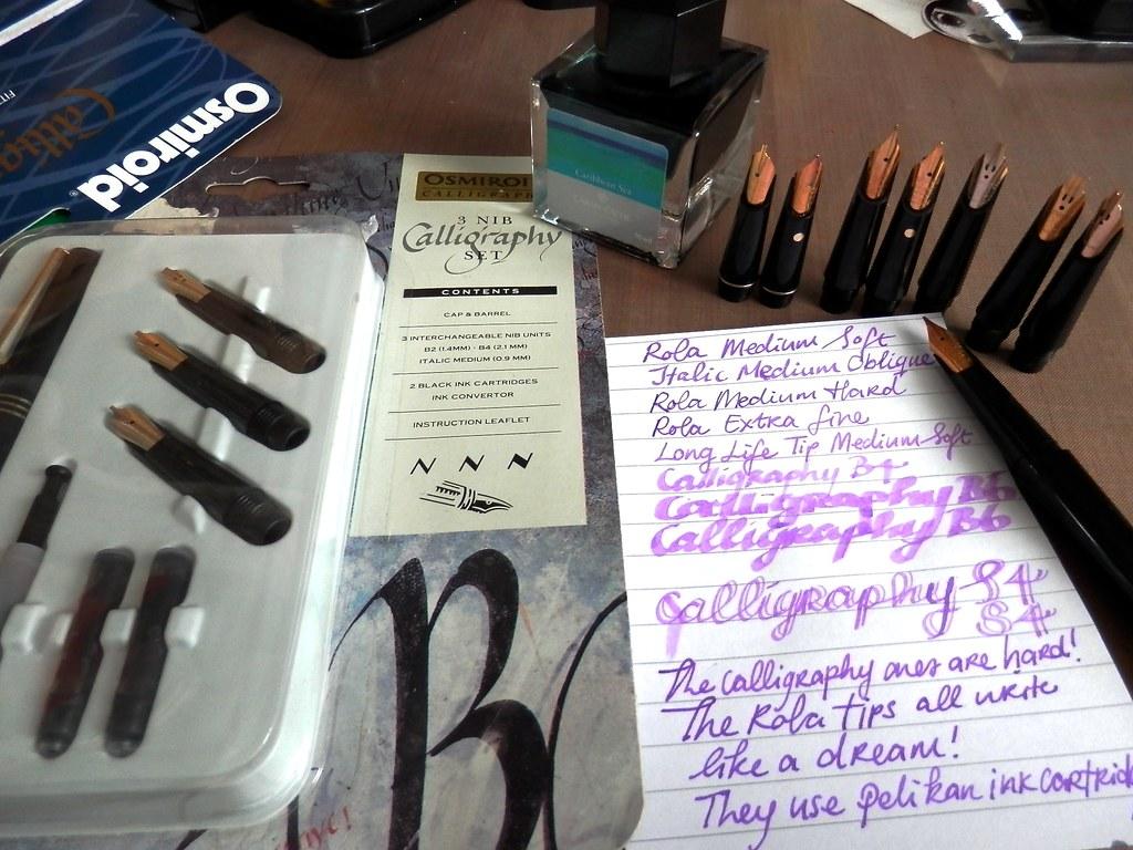 VINTAGE OSMIROID INK PEN 2 NIBS OSMIROID FOUNTAIN PEN NEW CALLIGRAPHY PEN