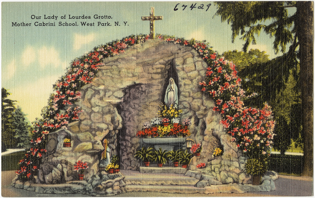 Our Lady of Lourdes Grotto, Mother Cabrini School, West Park, N. Y.