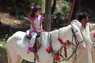 Riding a white Baluchi horse at Patriata sky ride, Punjab Province, Pakistan | by Paul Snook