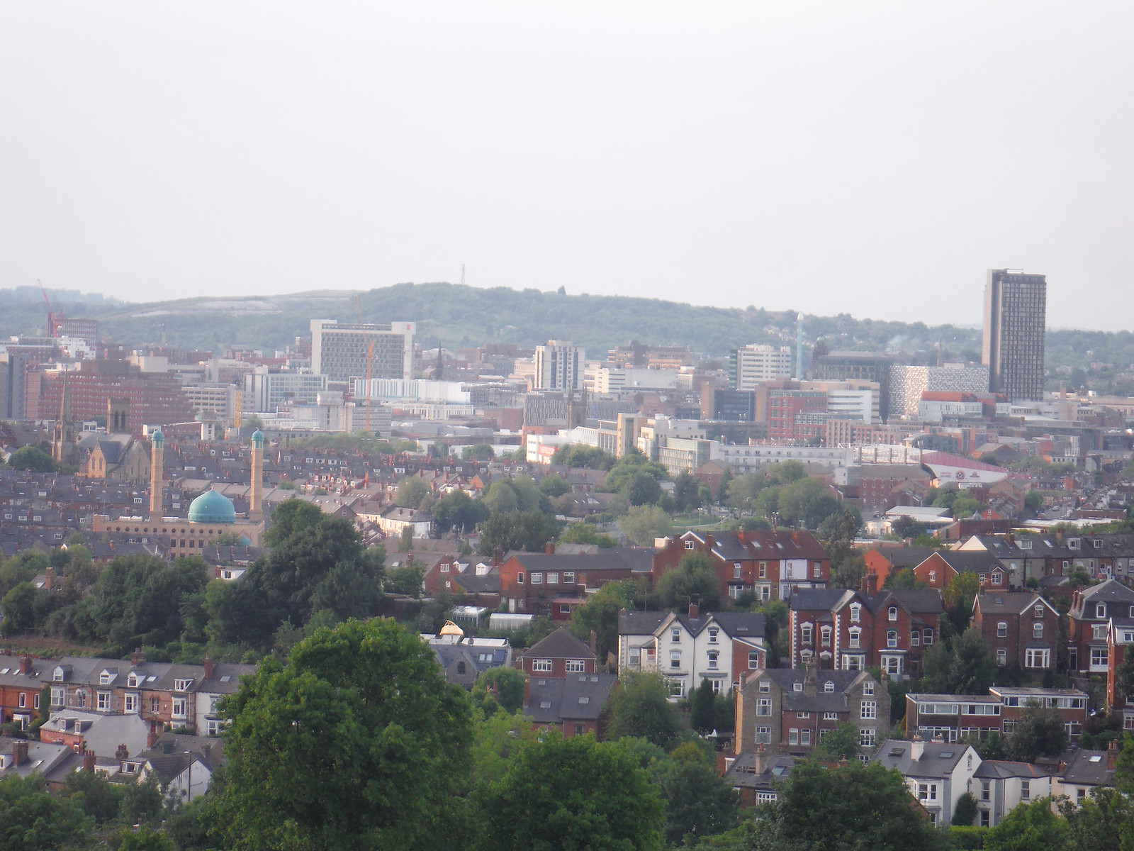 Town Centre from Meersbrook Park SWC Walk 267 - Sheffield Circular (via Porter, Limb, Sheaf and Gleadless Valleys)