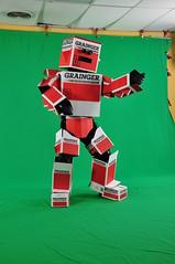 Grainger Box Man Strikes a Pose