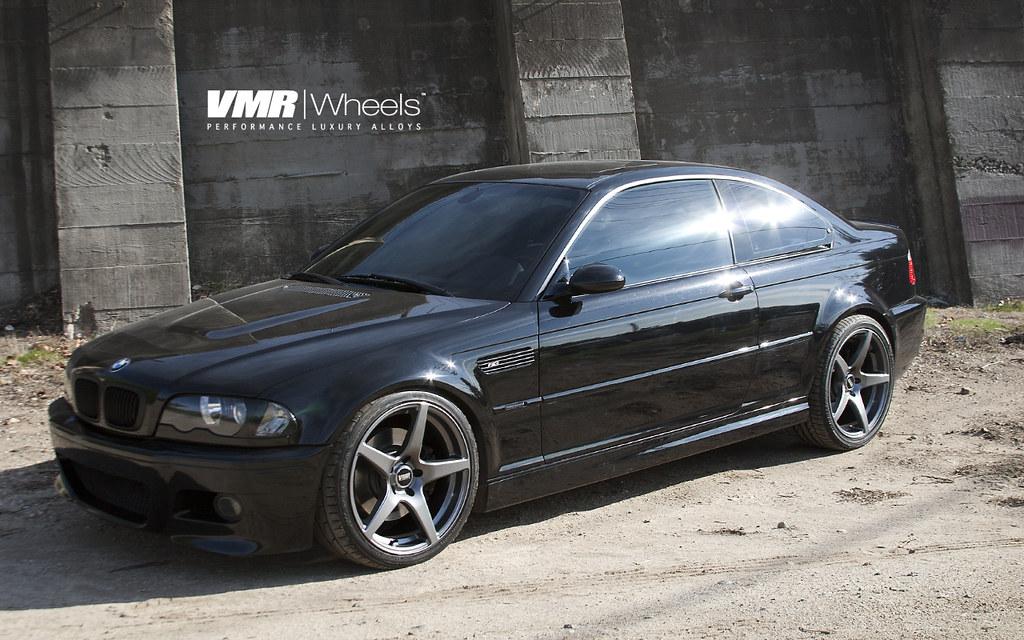 All Sizes Vmr Wheels 19 Gunmetal V705 On Black Sapphire Metallic Bmw E46 M3 Flickr Photo Sharing