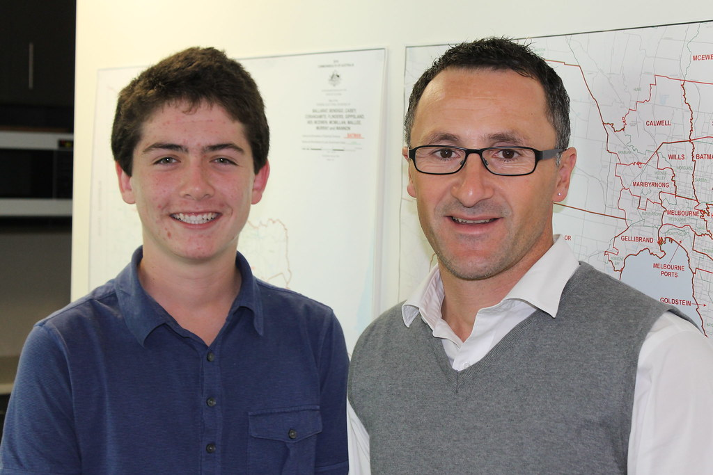 Jack, work experience student at Richard Di Natale's electorate office