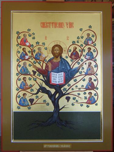 2012 Icône Christ Vraie Vigne - Christ the Holy Vine Icon (main de / hand of Michèle Lévesque) | by Périchorèse-iconographie