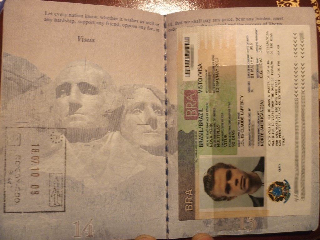 Brazil Visa, France entry stamp | monocletophat123 | Flickr