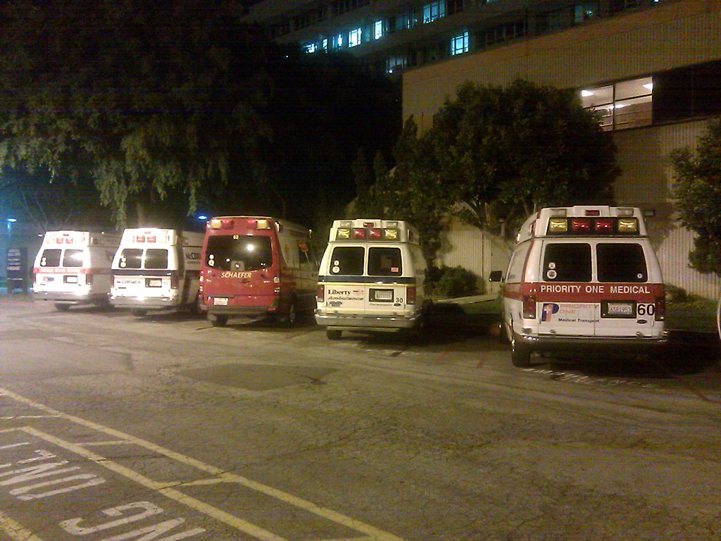 Harbor UCLA ambulance parking   Just a small fraction of the