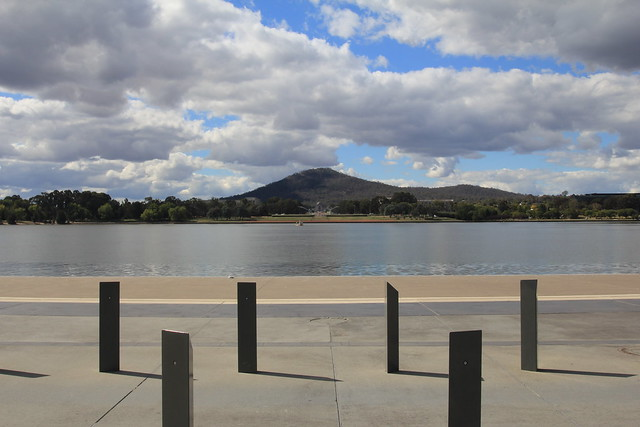 Canberra - Axis and Mt Aynslie from Lake Burley-Griffin