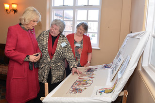 Talking about the lower panel | by Stamford Bridge Tapestry Project