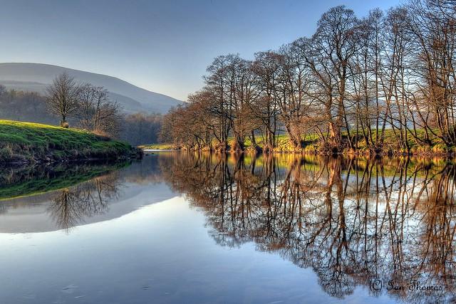 Reflections At Sunset ... Trough Of Bowland .. Lancashire