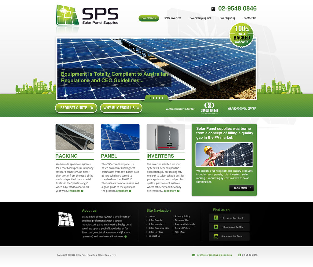 Solar Panel Supplies Website Design | Rod & Peig Judge, the