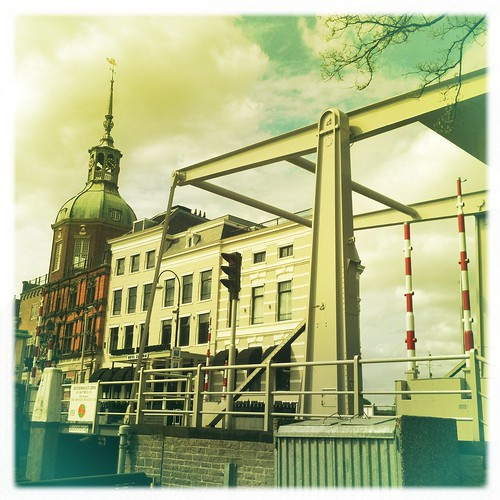 bridge houses windows light sky holland clock church netherlands leaves architecture clouds buildings colours details thenetherlands atmosphere dordrecht 2012 cityview ourtime icapture contemporaryartsociety iphone4 crazygeniuses appleiphone4 artcityart