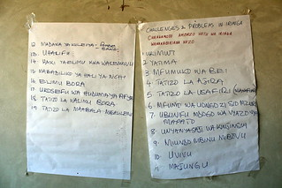 The problems in Iringa, listed by the participants   by TANZICT