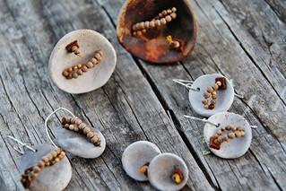 pit fired ceramic jewelry | by Anastàssia