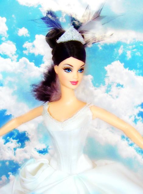 The Swan Barbie flying #6
