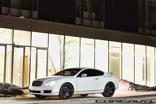 Matte White Bentley Continental GT on CW-5 Gloss Black | by Concavo Wheels