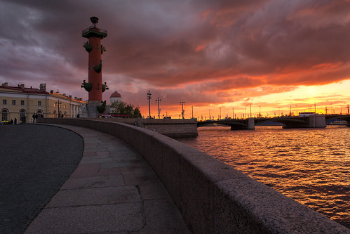 санктпетербург d7100 nikon bridge river sunset may column rostral russia saintpetersburg