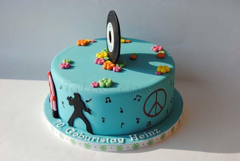 Torte Für Einen 70 Geburtstag Mit Elvis Silhoutte Schall Flickr