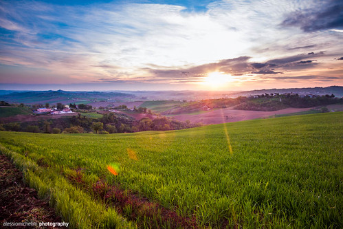 morning italy nature field grass sunrise landscape countryside spring country