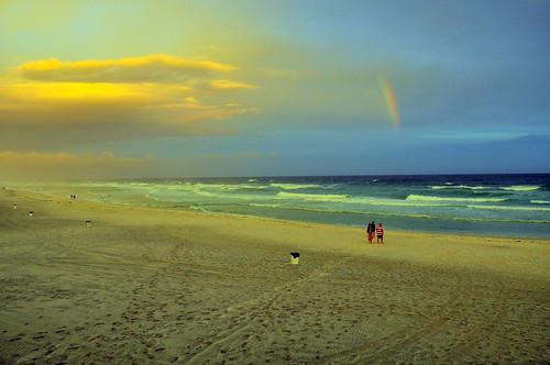 water rainbow surf