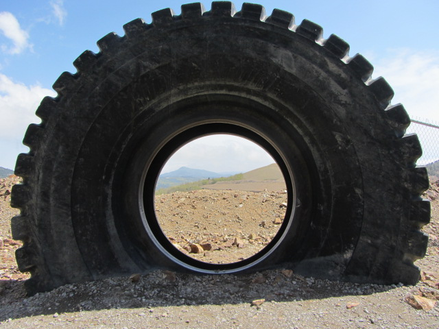 Giant Tire With a View