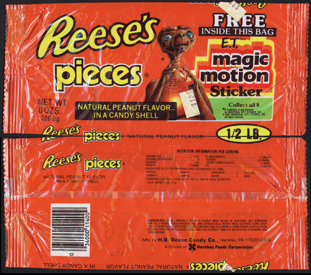 Hershey - Reese's Pieces - E.T. Magic Motion Sticker - 1/2… | Flickr