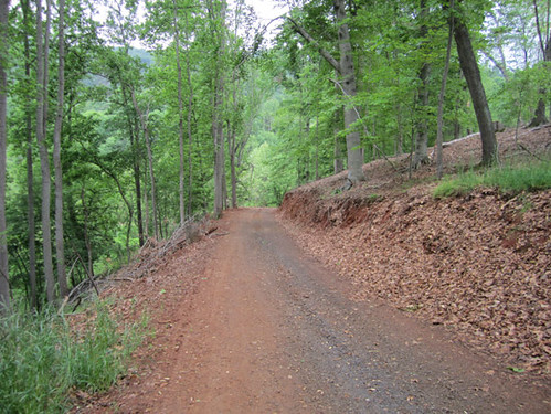 Access road after grading and rock.