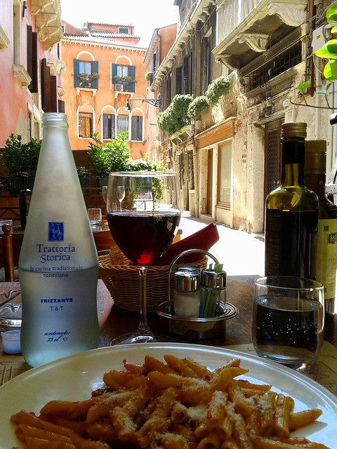 Trattoria Storica lunch, on a hot day in Venice