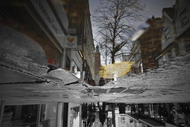 London Street Puddle Reflection [4/365 2017]