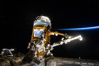 Japanese HTV-6 Released from Station   by NASA Johnson