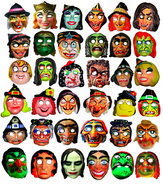 36 Witch Type Halloween Masks 013332