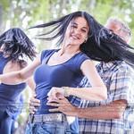 Dancing outside salsa bachata kiz chachacha with great people in Verdun (Montreal)