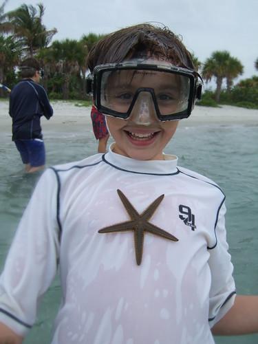 julian with a beaded starfish