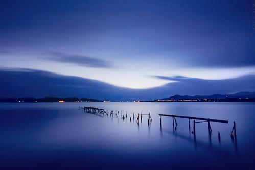 longexposure blue sunset seascape night canon landscape lights twilight dock published indigo greece bluehour canonefs1022mmf3545usm aspropyrgos canoneos40d