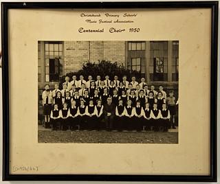 Christchurch Primary Schools Music Fest. Assn Centennial Choir 1950