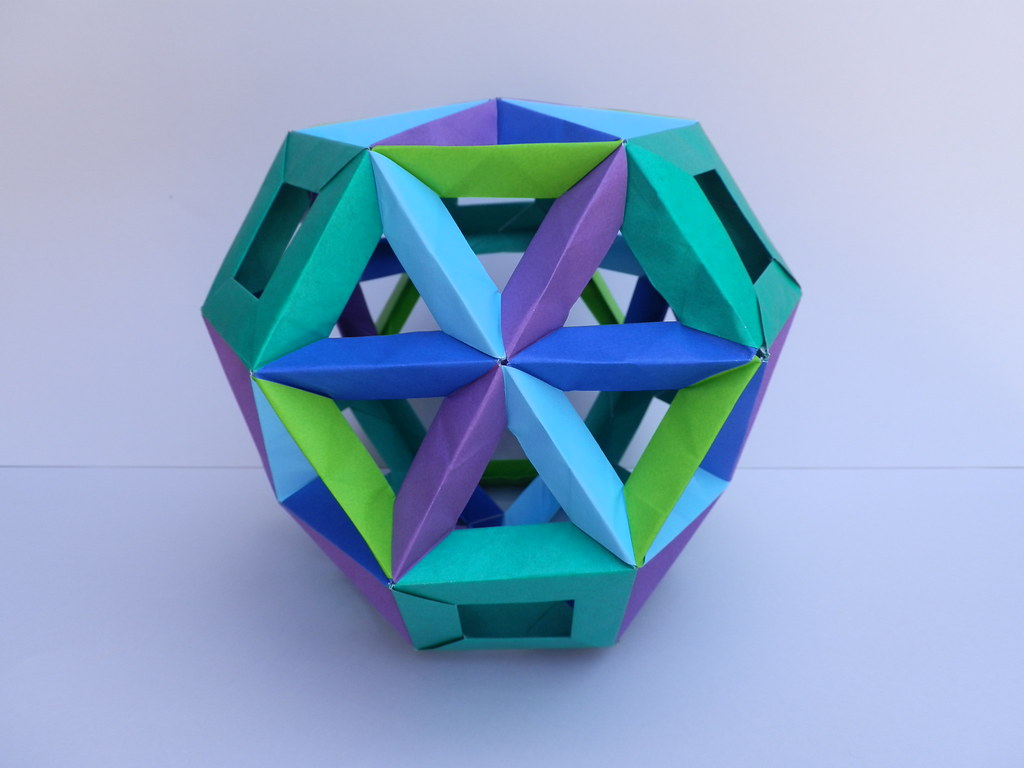 Modular Origami: How to Make a Cube, Octahedron & Icosahedron from ... | 768x1024