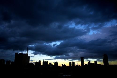 city sunset night kenya dusk nairobi towers